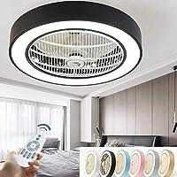 Ventilador De Techo Con Luz Led, Velocidad Del Viento Ajustable, Regulable Con Control…