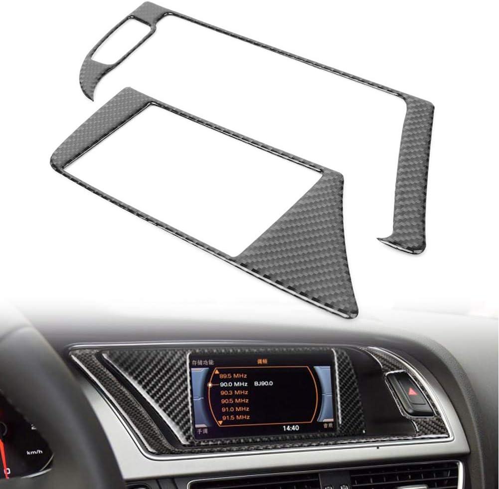 Gzyf Real Carbon Fiber Gps Navigator Armaturenbrett Verkleidung Passt A5 2008 2010 Q5 3 2l 2010 Rs5 2015 Auto