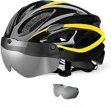 Bicicleta de montaña Casco Certificación CE,con Visera Magnética ...