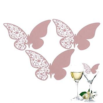 50 Pcs Design Schmetterlinge Glas Platzkarten Hochzeit Geburtstage