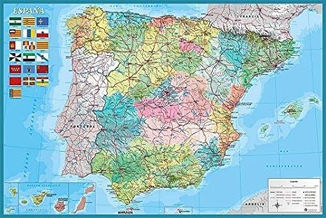 Grupo Erik Editores Poster Mapa España Fisico Politico: Amazon.es ...