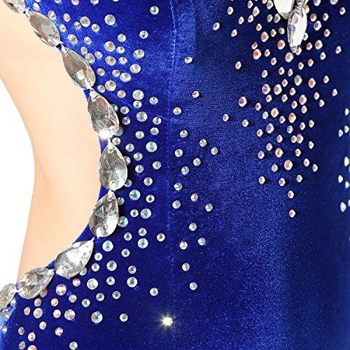 Geblümt Schlauch Engerla Damen Kleid Königsblau Blau wOZTtRq