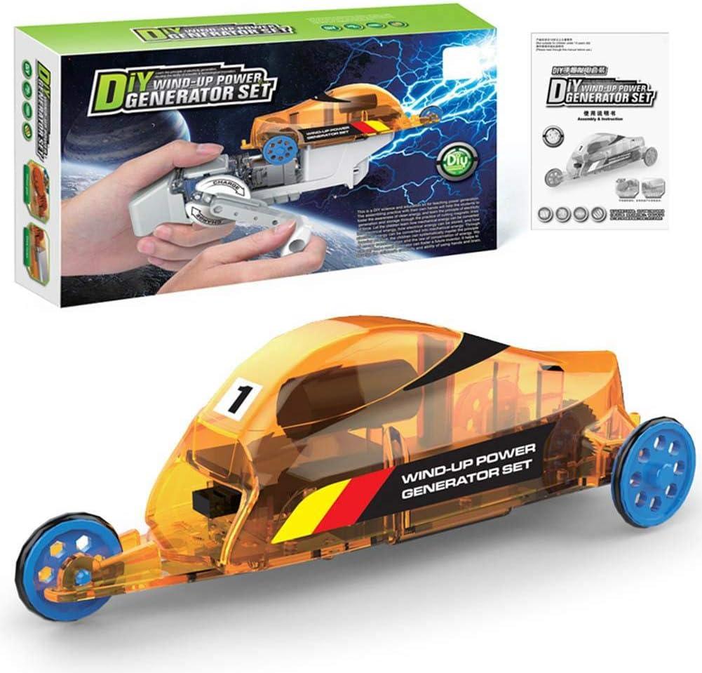 Zerodis- Modelo de ensamblaje de automóviles, Bricolaje Generación de energía Manual Triciclo de Juguete eléctrico ensamblado para niños de Juguete Playset Conjunto de experimentos educativos