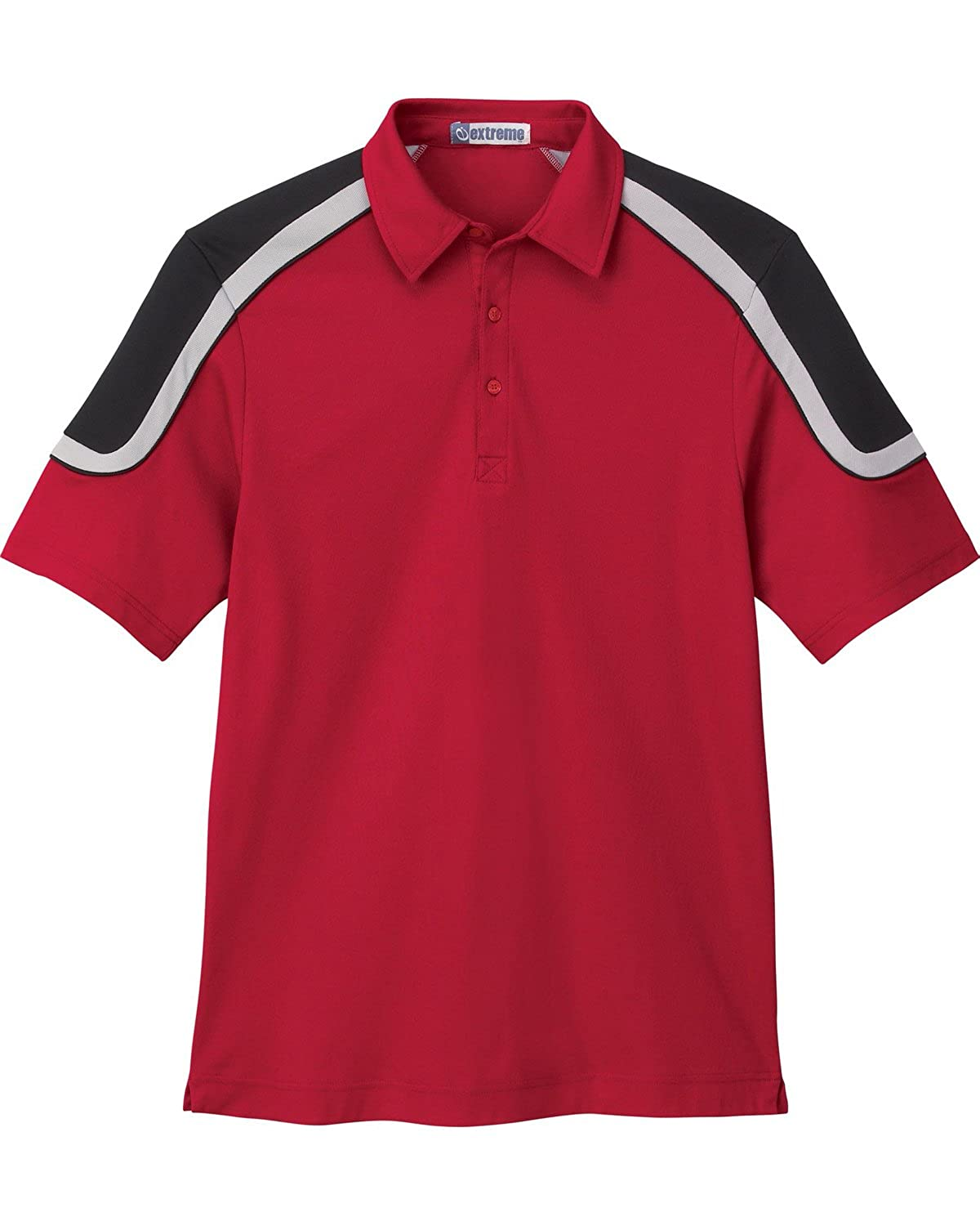 Extreme Men's Edry Color-Block Polo -85103- -CLASSIC RED -XL