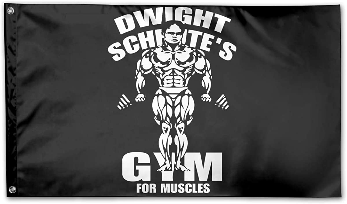 Coolguyid American Flag by U.S. Veterans Owned Dwight Schrute's Gym for Muscles Flag 3x5 Ft