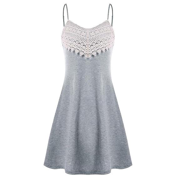 Mini Vestido Corto,FAMILIZO Vestidos Rectos Mujer Tallas Grandes ❤️S~2XL Verano Vestidos