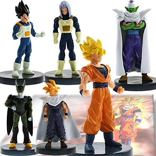 Lot 6 pcs Dragonball Z Dragon ball DBZ Joint movable Action Figure Toy Set Anime
