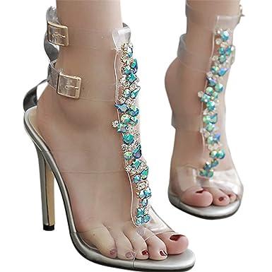 a0e7c97f047b9 Amazon.com: Fainosmny Sexy Womens High Heels Summer High-Heeled ...