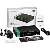 GTMEDIA V8X HD DVB-S/S2/S2X FTA Digital Satellite Receiver, Free to Air Built-in 2.4G WiFi TV Sat Decoder Supports Intelsat 901 at 27.5°W BBC Channel
