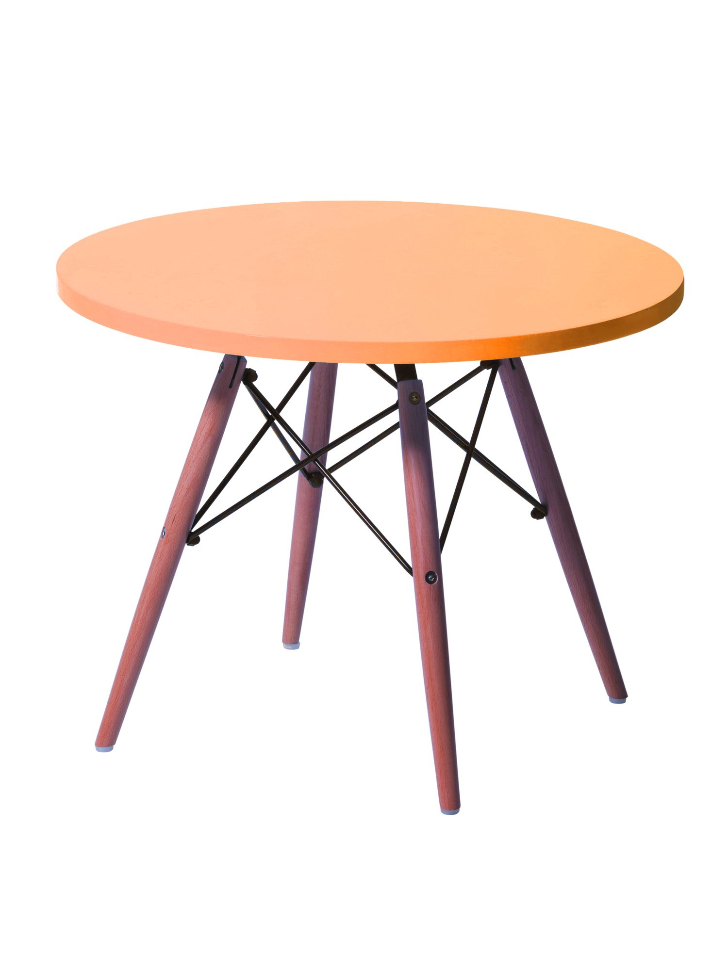 CSP Events KPWT-500-OR Eame style kids Table, 18.5'' Height, 24'' Width, 24'' Length, Orange