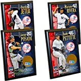 "New York Yankees Core 4 Ultimate Fan Gift Set т€"" Jeter Rivera Posada Pettitte Certified Authentic Field Dirt Plaques"