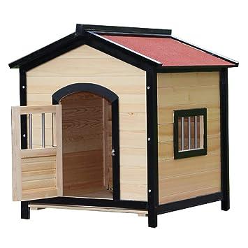 Perreras Casa para mascotas Casa nido para mascotas al aire libre Casa de perro de madera