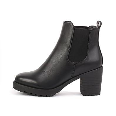 best-boots Damen Plateau Stiefelette Chelsea Boots SCHWARZ 1084 Größe 36 6b6c668a70