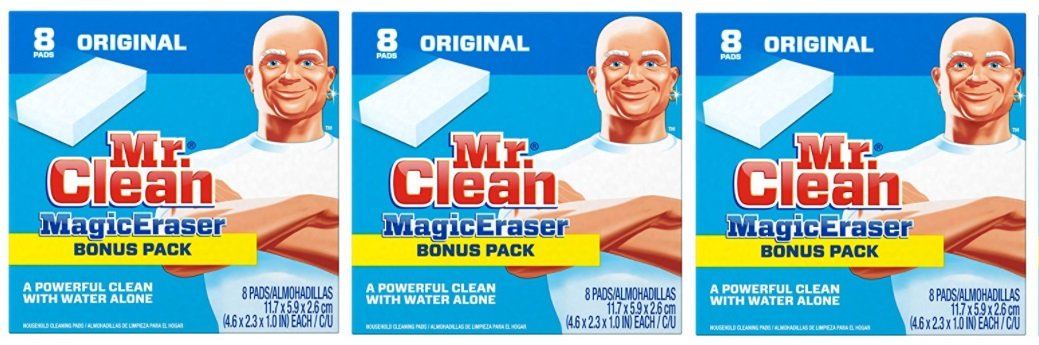 Mr. Clean Magic Eraser Cleaning Pads, 8-Count Box (3 Pack) by Mr. Clean (Image #1)