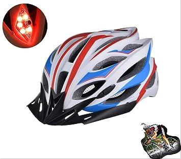 KAILUN Casco De Bicicleta, Casco con Luces Traseras De Seguridad. S Diseño Aerodinámico,