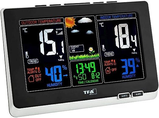 TFA 35.1129.01 - Estación meteorológica Digital con Sensor Remoto: Amazon.es: Jardín
