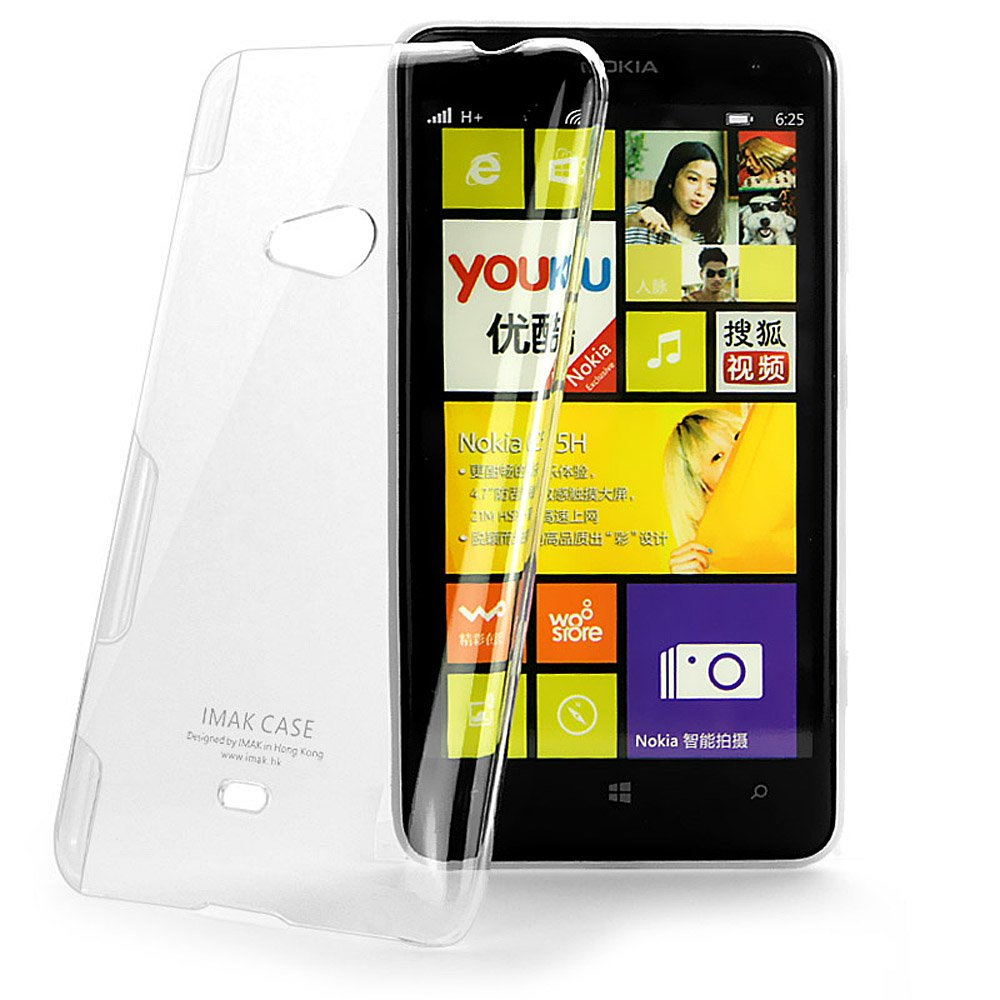 new product af483 a854a Heartly Imak Crystal Transparent Flip Thin Hard Bumper Back Case Cover For  Nokia Lumia 625