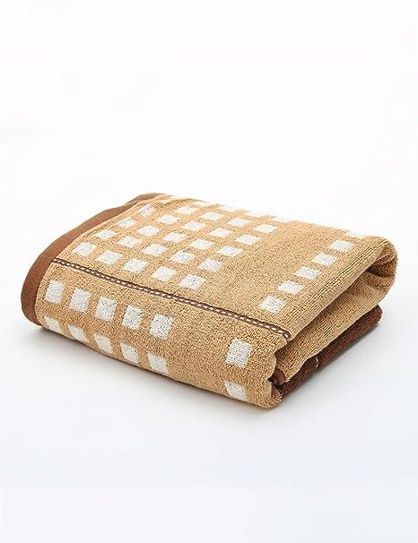 Toalla de baño suave- Toalla de algodón simple absorbente toallas suaves grandes adulto 70 *