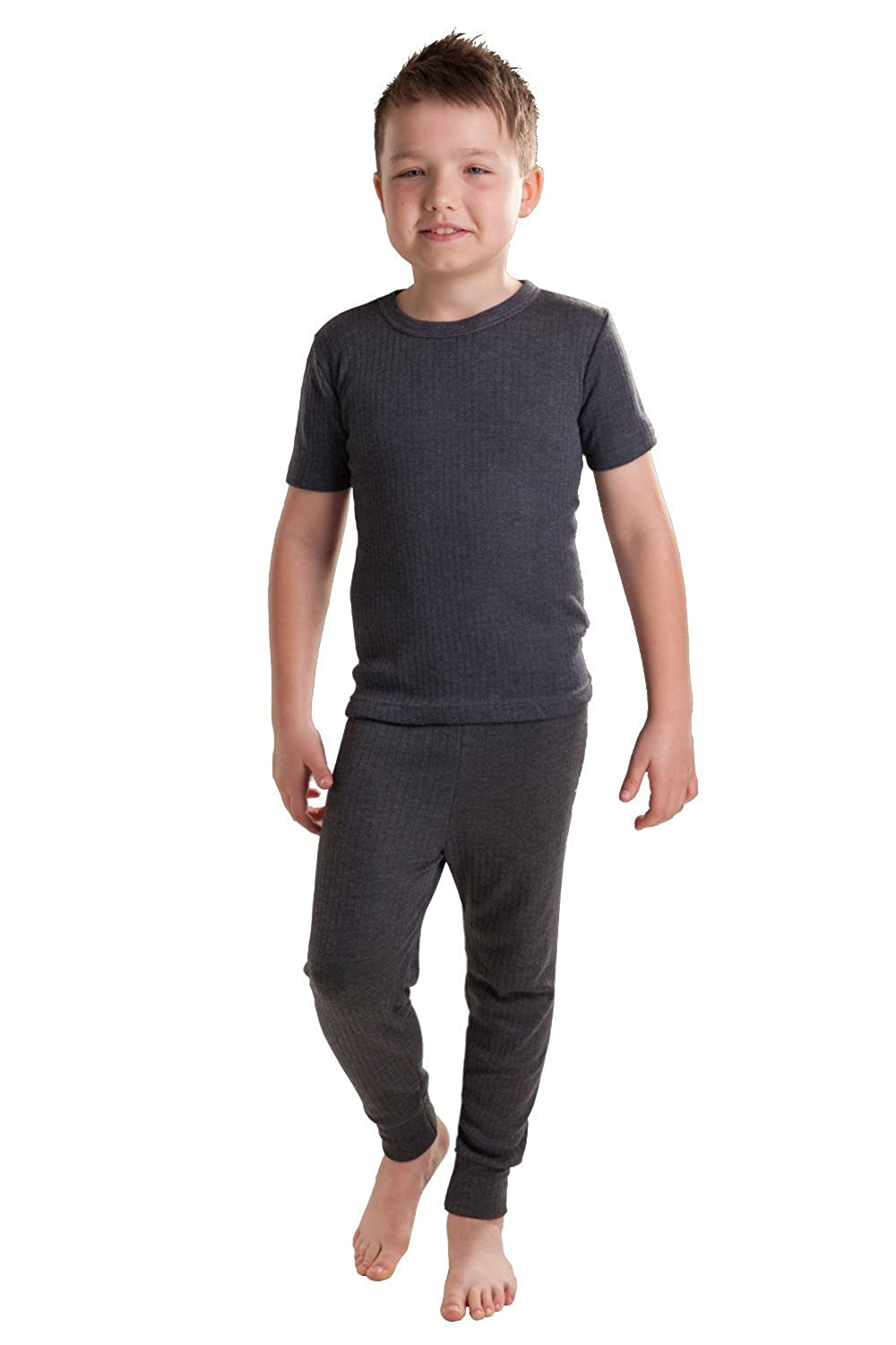 Short Sleeve Vest and Long Pants OCTAVE/® Boys Thermal Underwear Set