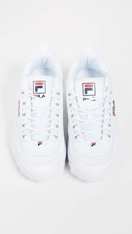 Fila 1010302-12v Disruptor Low Wmn Baskets pour femme Blanc Bleu Marine Rouge