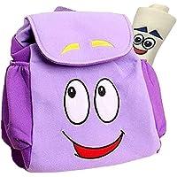 Dora Explorer Backpack Dora Bag,10inch Dora Explorer Rescue Bag with Map (Light purple)
