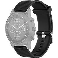22mm Correa de Pulsera de Silicona Texturizada for Fossil híbrido SmartWatch HR Gen 4 Explorist HR Hombres del Reloj…