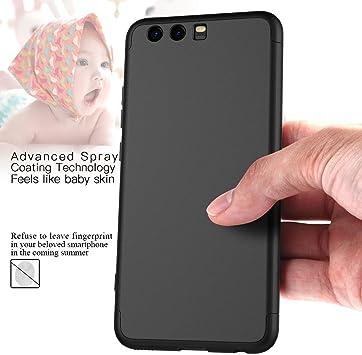 ,Titular del tel/éfono Case Carcasa,360 /°de Protection Case Cover Smartphone Huawei P10 Plus Fundas.Azul /& Negro 2 /× Protector de Cristal Templado sigua Funda Compatible para Huawei P10 Plus