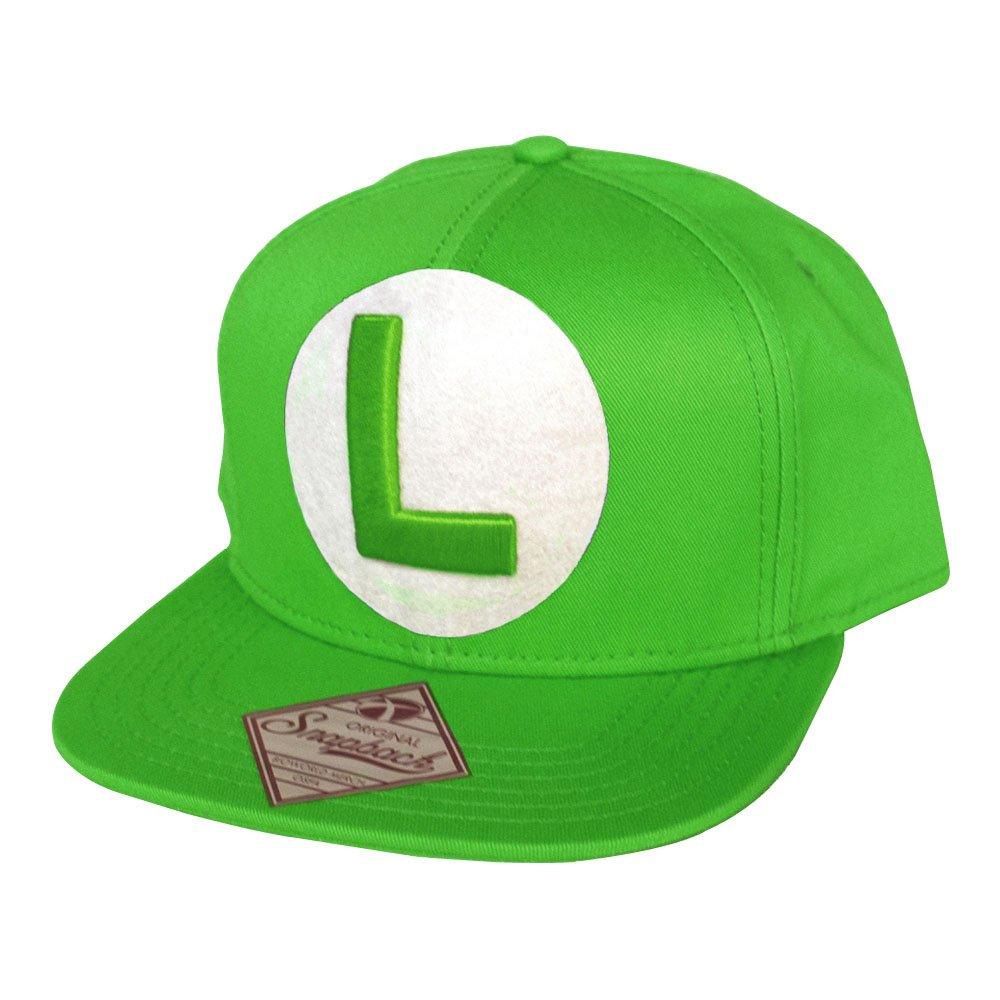 c2493a6f3 Amazon.com: Nintendo Super Mario Bros Luigi Symbol Snapback Baseball Cap  Green Sb061803ntn: Toys & Games