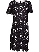 Calvin Klein Womens Lace Overlay Lined Casual Dress