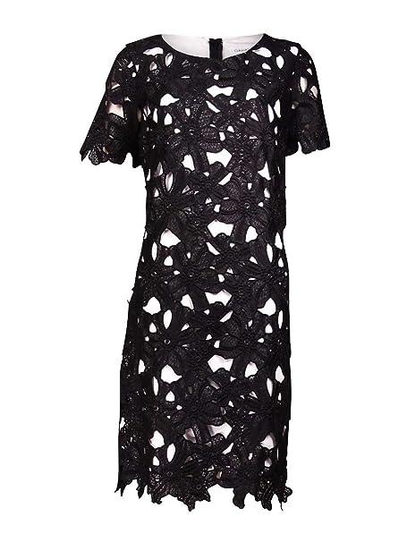 Calvin Klein Womens Short Sleeve Lace Shift Dress At Amazon