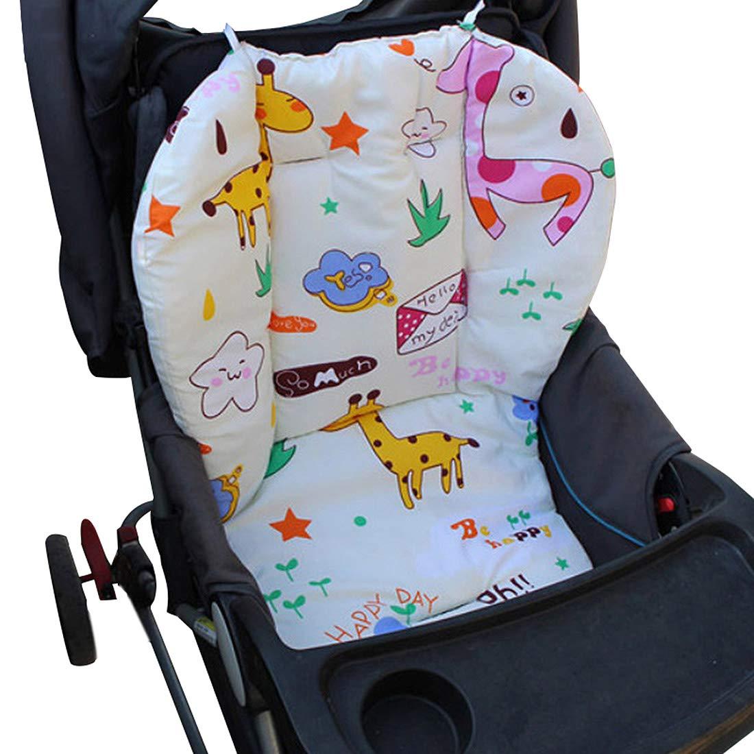 Colchoneta Universal para Silla de Paseo Cochecito Trona de Bebé, Cojín de Algodón Asiento para Bebé Niños Impresión de Dibujos Animados #1