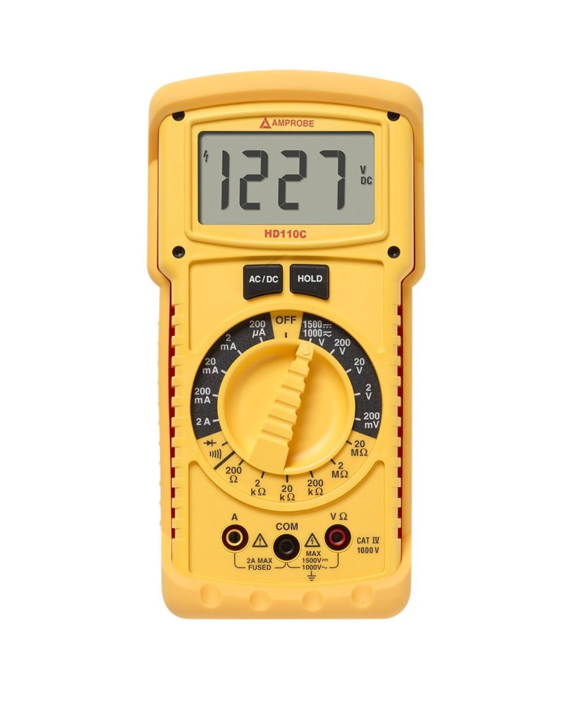 Amprobe HD110C Heavy Duty Multimeter with IP67 Rating