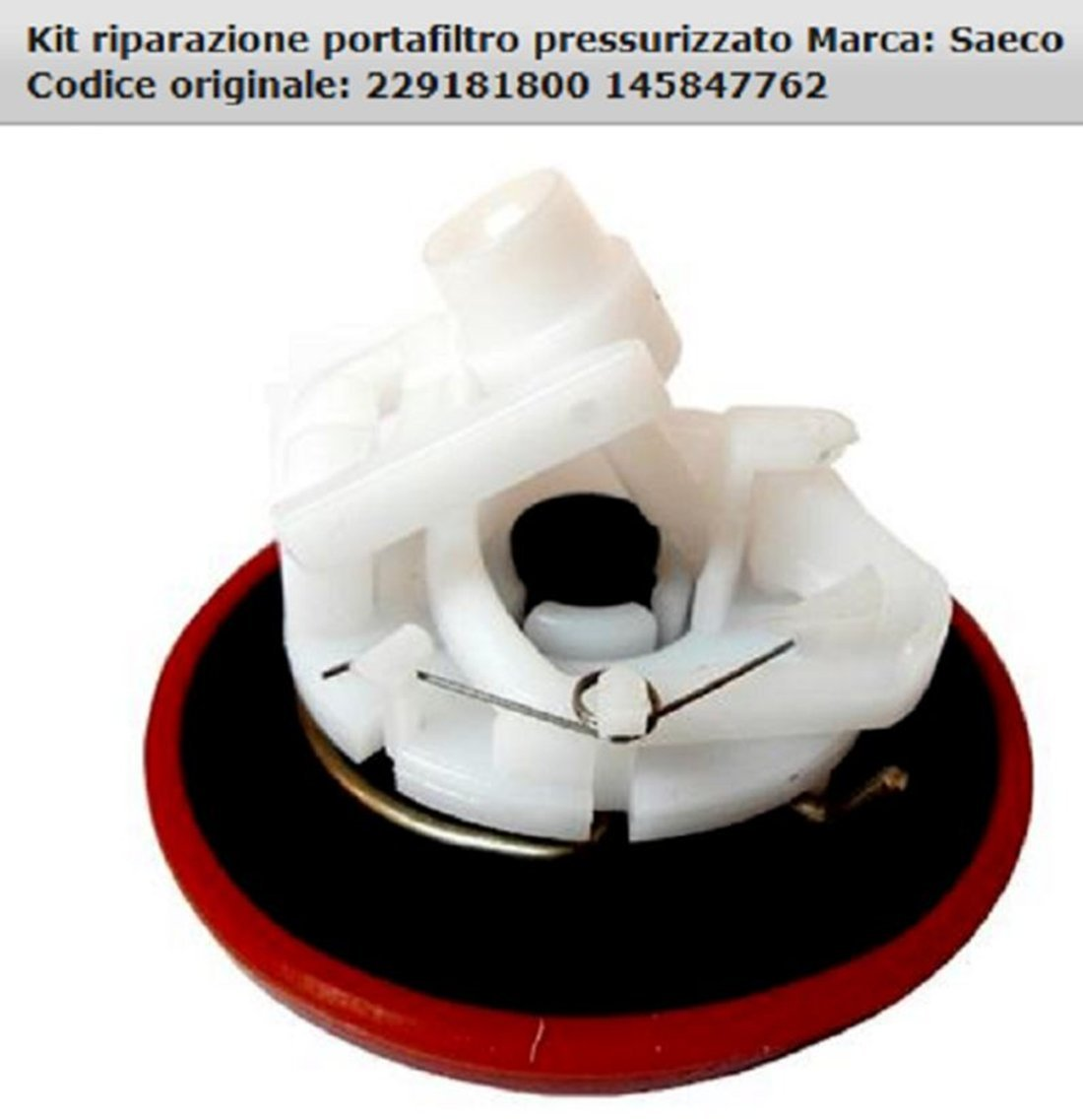 * El Campo 8033266103293/* * Junta para portafiltros presurizado no Original * * CD 38880000/* * * * Saeco Kit reparaci/ón Muelle
