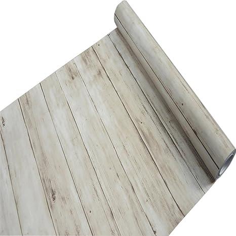 Forro de estante autoadhesivo de vinilo de papel de contacto de grano de madera rústica para gabinetes de cocina Encimeras Cajones Muebles Decoración de ...