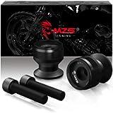 MZS 10MM Swingarm Spools - Universal Motorcycle Sliders Stand M10 CNC Black Compatible with Ninja 250 300 650 1000 Z750…