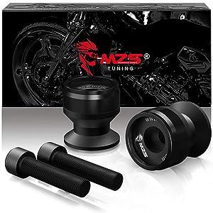 MZS 8MM Swingarm Spools Sliders Stand CNC Universal M8 compatible Honda CBR 600 F2 F3 F4 F4i CBR600RR CBR1000RR/ Suzuki GSXR600 GSXR750 GSXR1000/Kawasaki ZX6R ZX10R Z900 Z1000/KTM/Ducati/Triumph Black