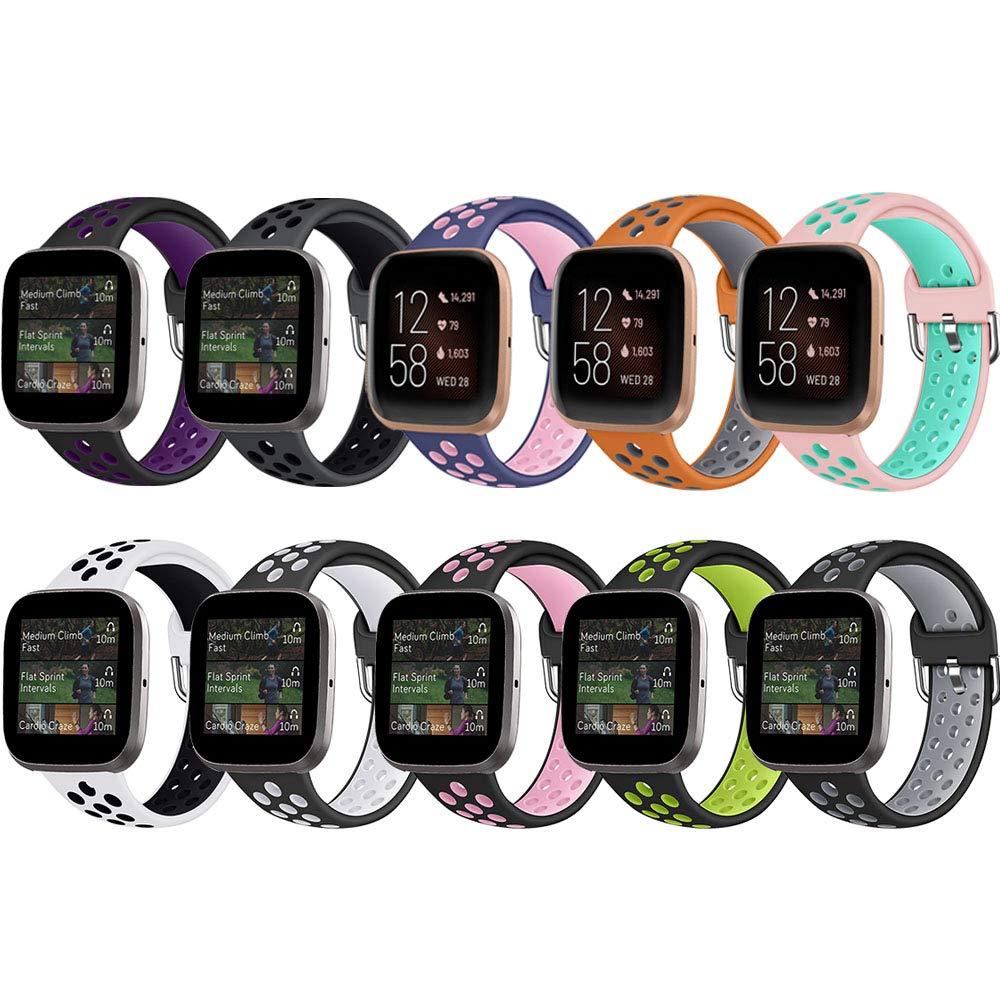Small and Large ZSZCXD Compatible for Fitbit Versa Band Silicone Replacement WatchBand Strap Band Wristband for Fitbit Versa
