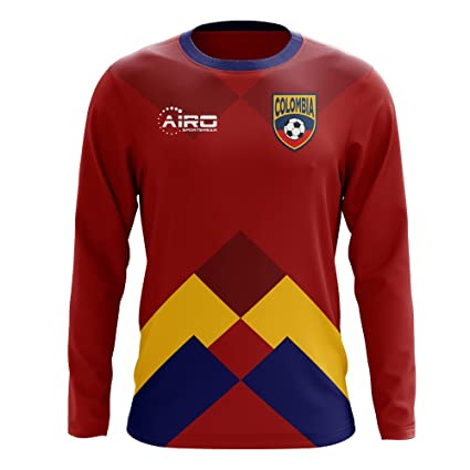 a00199a86 Image Unavailable. Image not available for. Color  Airo Sportswear 2018-2019  Colombia Long Sleeve Away Concept Football Soccer T-Shirt Jersey