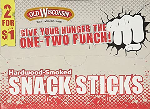 Old Wisconsin Beef Snack Sticks Counter Box, 42 Count - Old Wisconsin Snack Sticks
