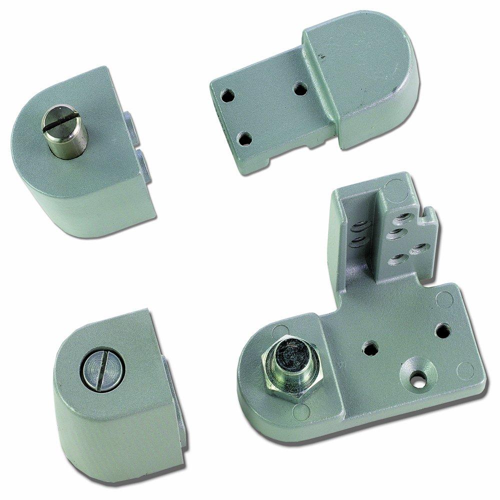 Global Door Controls Aluminum Left Hand Offset Pivot - Set of 4