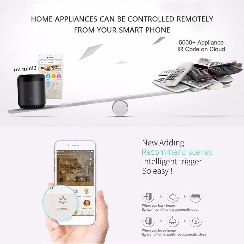 Controlador Remoto Broadlink WiFi Controlador IR Universal RM Mini3 Black Bean Un electrodoméstico con Control de Clave a Través de la Aplicación ...