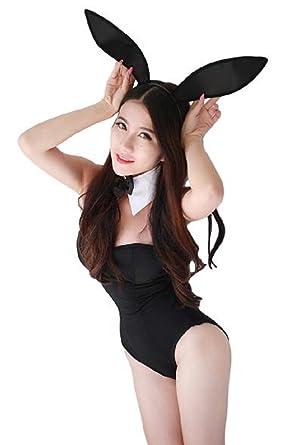 Amazon.com: Para mujer Sexy disfraz de conejo uniforme negro ...