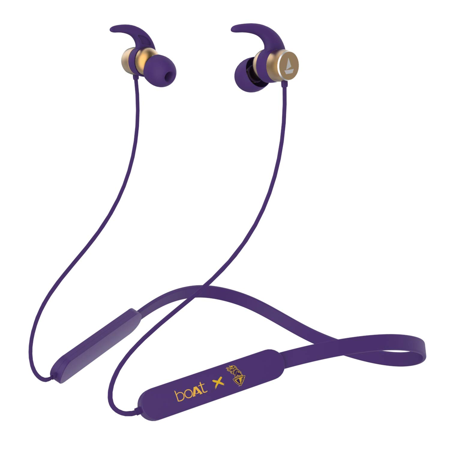boAt Rockerz 255 Kolkata Knight Riders Edition Wireless Headset with Super Extra Bass, IPX5 Water and Sweat Resistant, Qualcomm Chipset and Upto 6H Playback (KKR Thunder Purple)