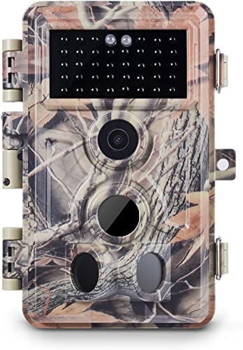 Meidase Trail Camera 16MP 1080P, Game Camera with No Glow Night Vision Up to 65ft, 0.2s Trigger Time Motion Activated, Unique Keypad, 2.4 Color Screen, Waterproof Wildlife Deer Hunting Cam