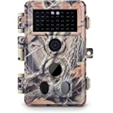 Meidase Trail Camera 16MP 1080P, Game Camera with No Glow Night Vision Motion Activated Waterproof