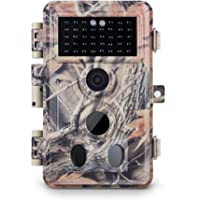 """Meidase Trail Camera 16MP 1080P, Game Camera with No Glow Night Vision Up to 65ft, 0.2s Trigger Time Motion Activated, 2.4"""" Color Screen and Unique Keypad, Waterproof Wildlife Hunting Camera"""