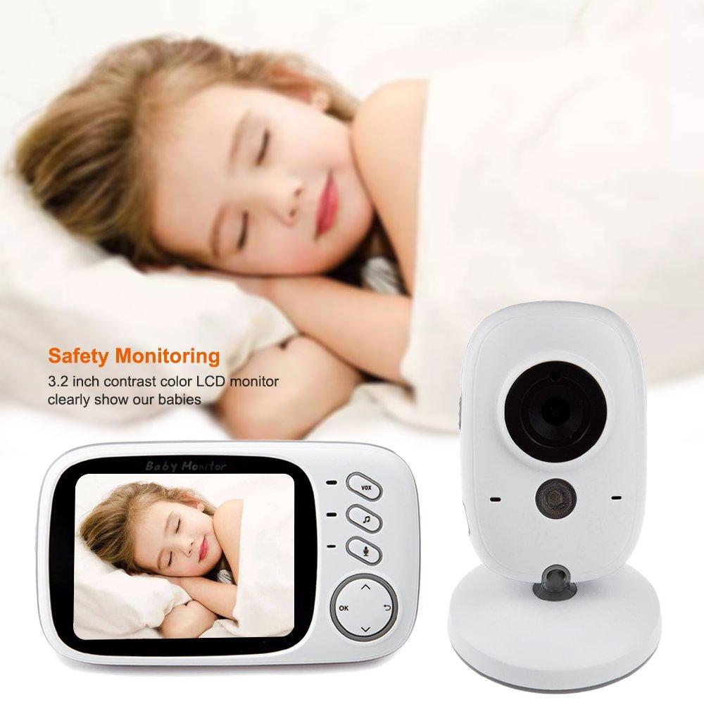 6484201513a iLifesmart White VB603 2.4G Wireless Baby Video Monitor with Digital Camera