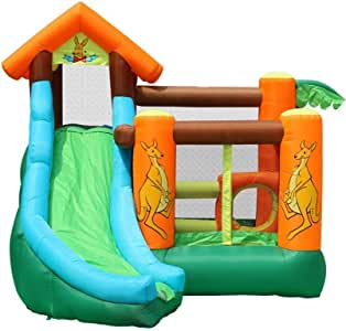 AJH Kids Bouncy Castle Inflatable Bouncy Castle Kids Trampolines Castle Jumping Castle with Blower Water Bag for Kid Obstacle Bouncer