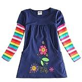 Amazon Price History for:VIKITA Toddler Flower Girl Dress Cotton Long Sleeve Navy Baby Girls Winter Dresses for 2-8 Years
