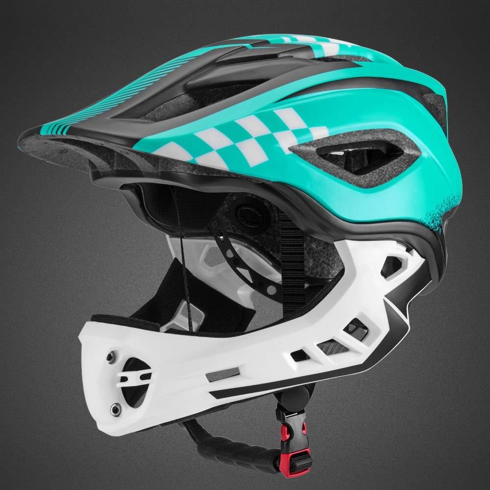 キッズヘルメット 調節可能な子供サイクリングマルチスポーツ安全バイクスケートスクーターヘルメット3歳から8歳までの女の子/男の子(S:48-53CM、M53-58CM) (Color : Blue)   B07Q5CM8Y1